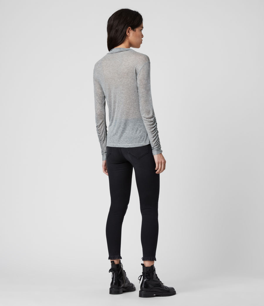Women's Francesco Roll Neck Top (grey_marl) - Image 5