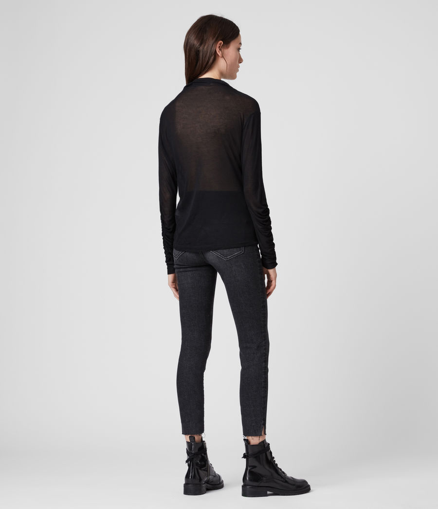 Womens Francesco Roll Neck Top (black) - Image 5