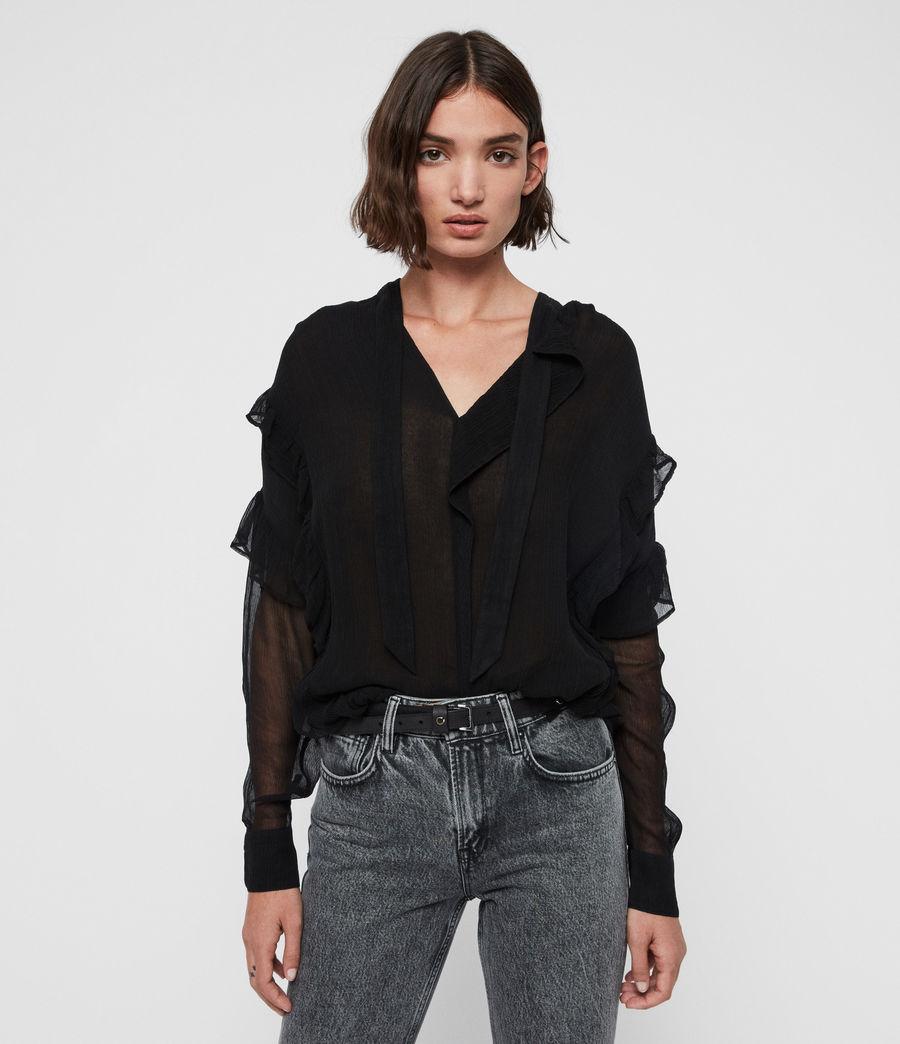 Womens Sofia Top (black) - Image 1