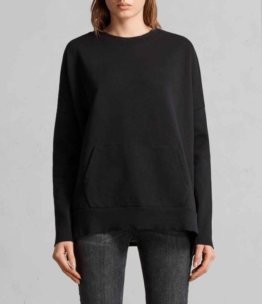 Womens Ivy Crew Sweatshirt (jet_black) - Image 1