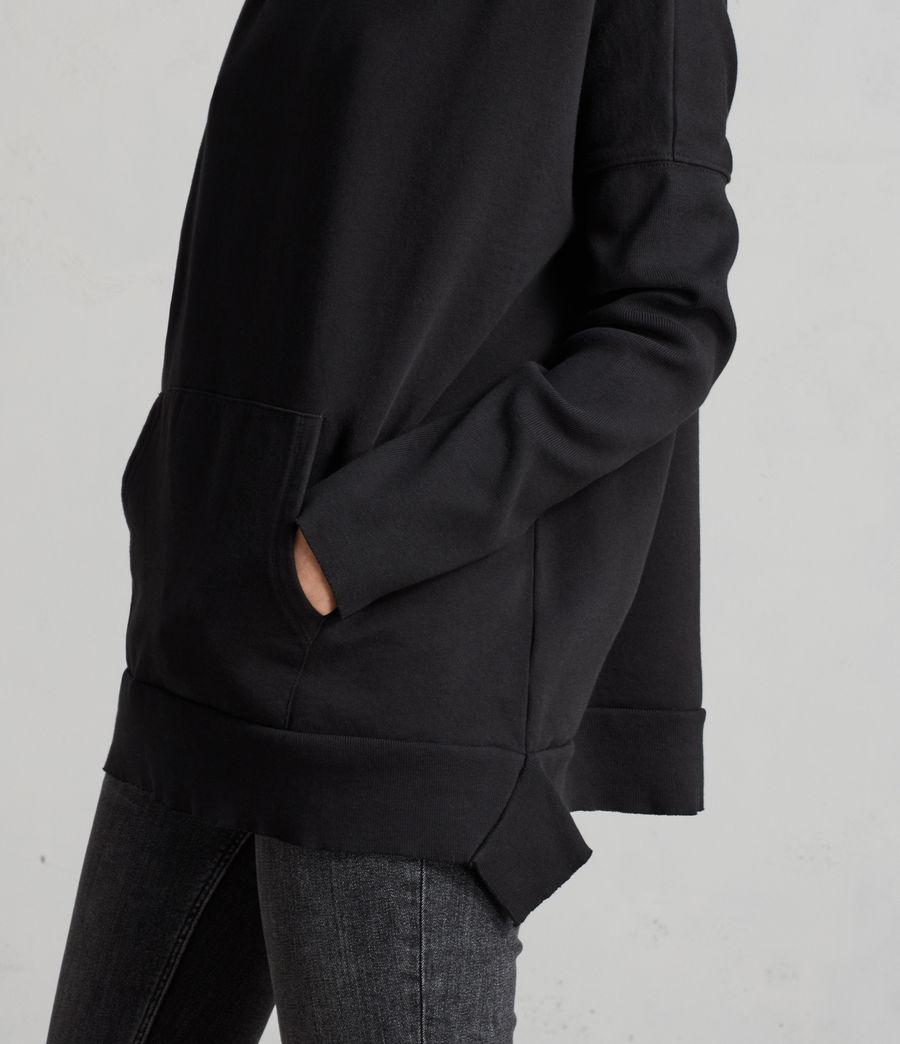 Womens Ivy Crew Sweatshirt (jet_black) - Image 2