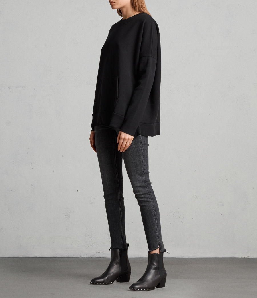 Womens Ivy Crew Sweatshirt (jet_black) - Image 3