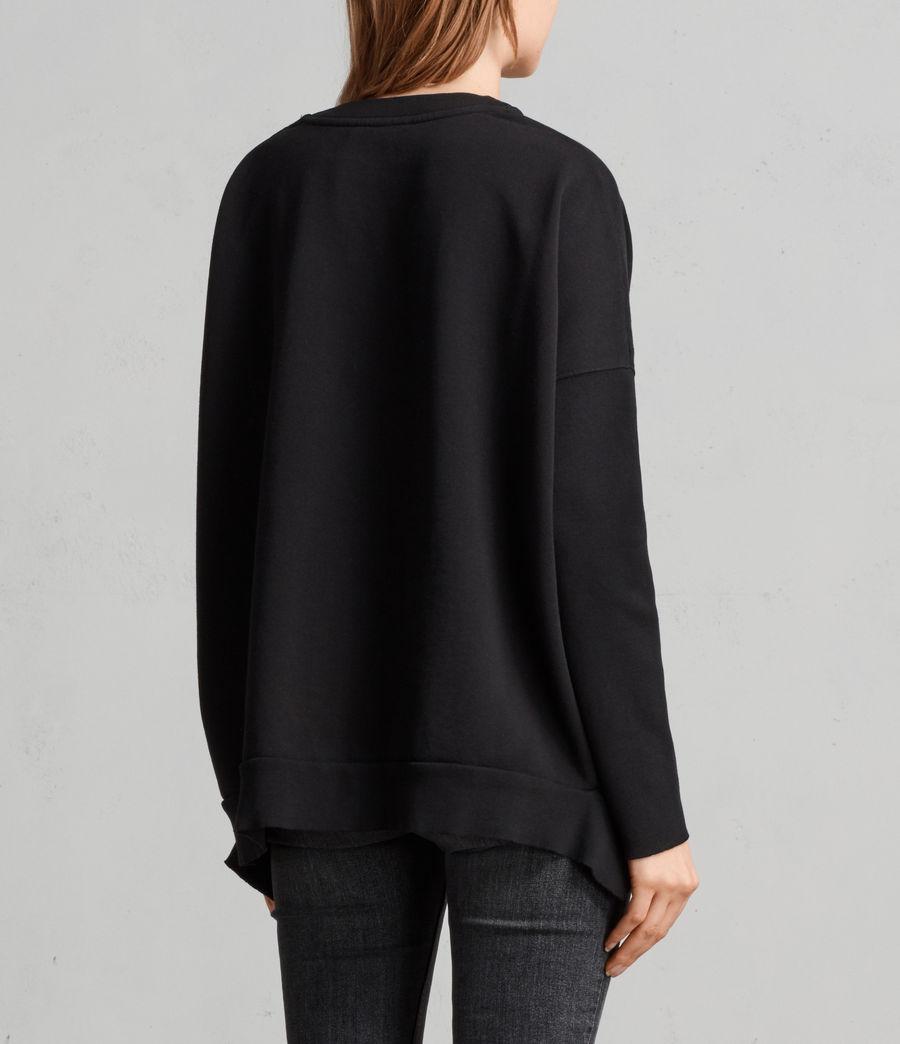 Womens Ivy Crew Sweatshirt (jet_black) - Image 4