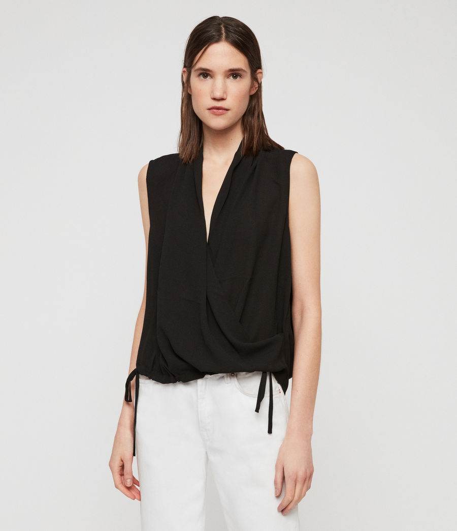 Womens Ami Top (black) - Image 3