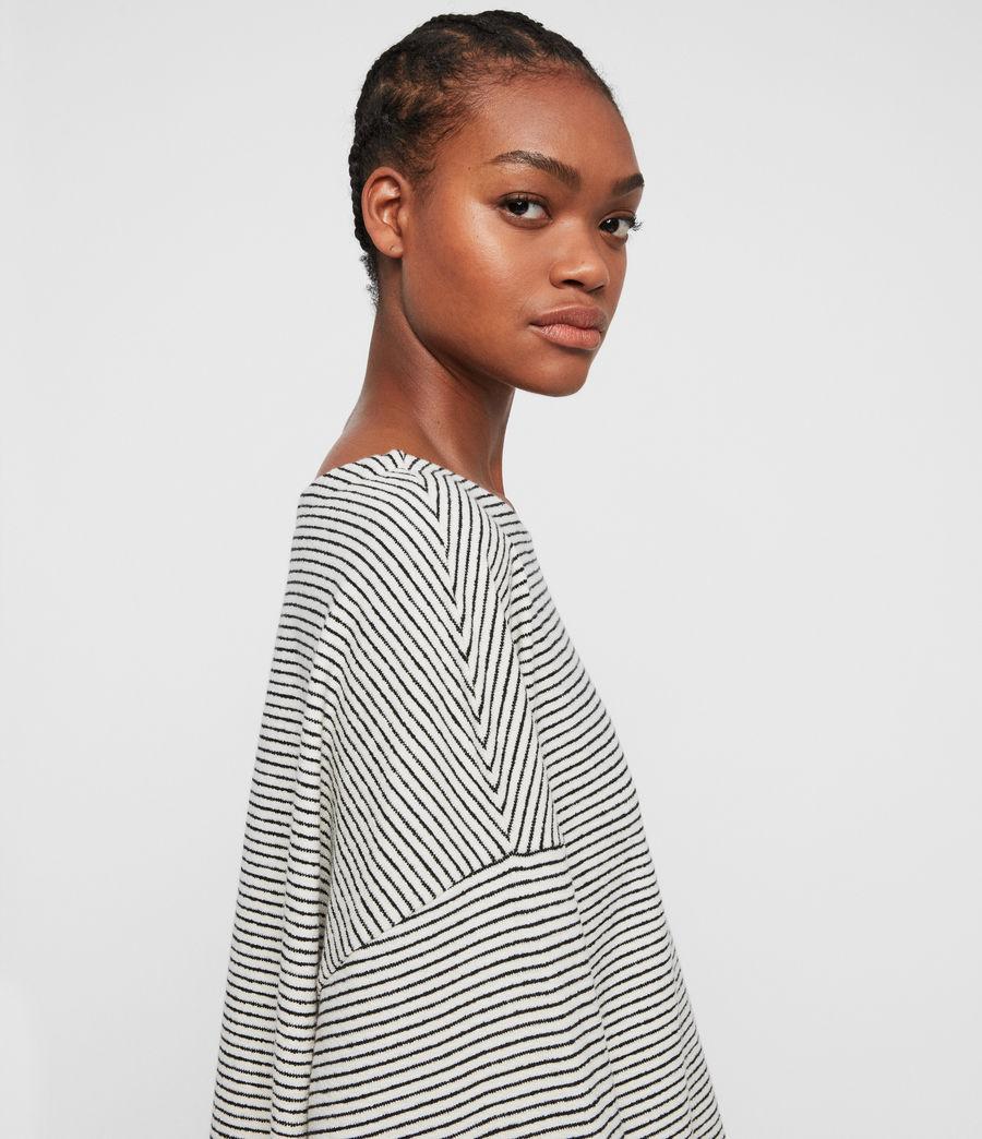Mujer Top Adelise Stripe (ecru_white_black) - Image 2