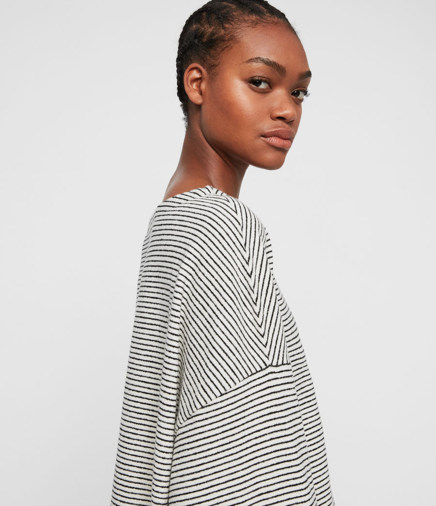 Womens Adelise Stripe Top (ecru_white_black) - Image 3