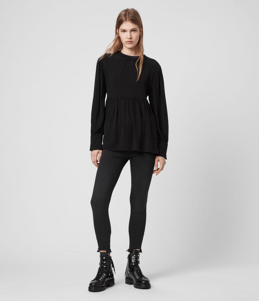 Womens Fayre Top (black) - Image 3