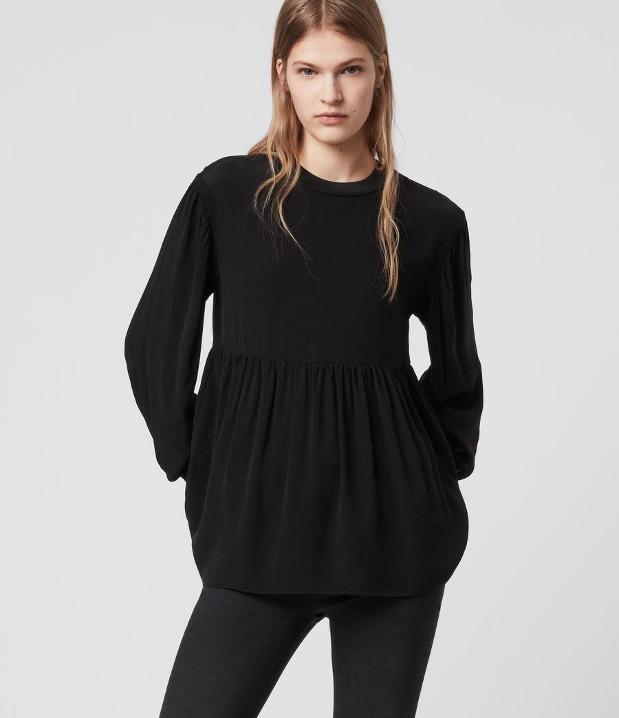 Womens Fayre Top (black) - Image 4