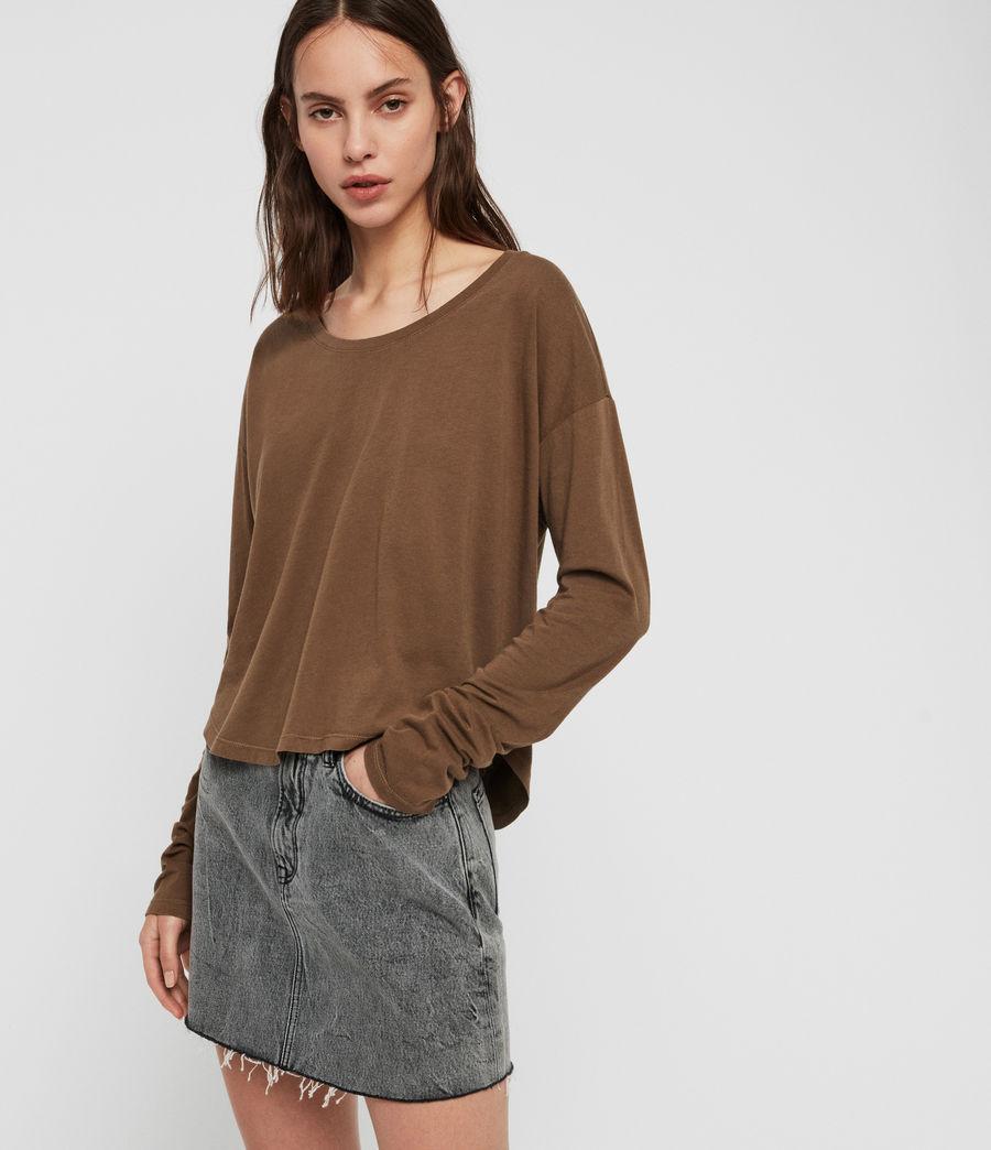 Womens Brea Long Sleeve T-Shirt (khaki_green) - Image 1