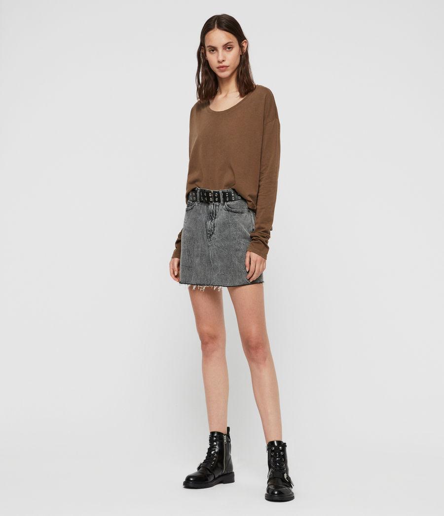 Womens Brea Long Sleeve T-Shirt (khaki_green) - Image 2