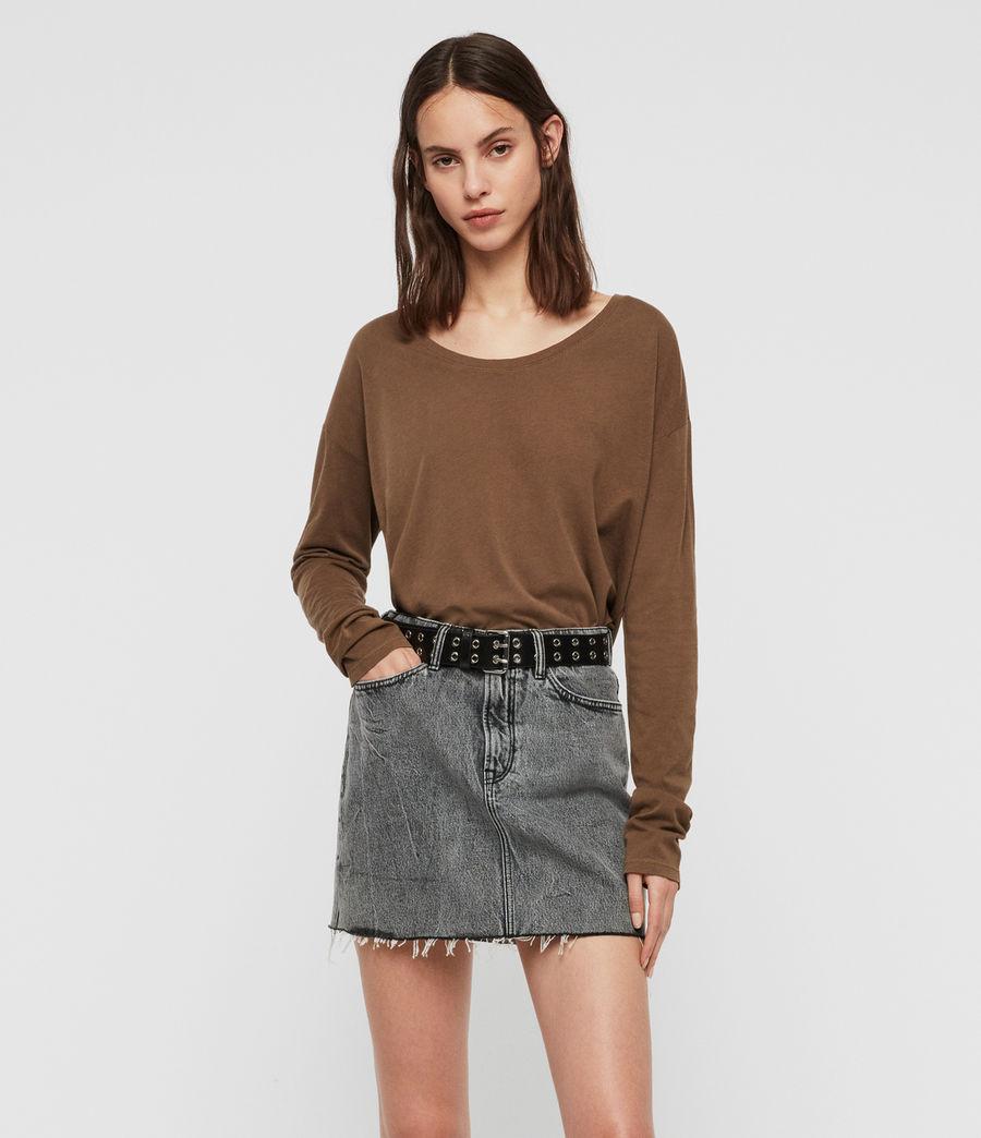 Womens Brea Long Sleeve T-Shirt (khaki_green) - Image 3