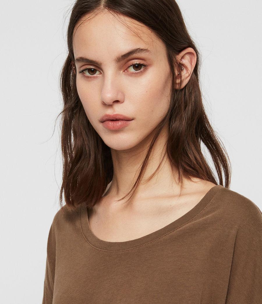 Womens Brea Long Sleeve T-Shirt (khaki_green) - Image 4