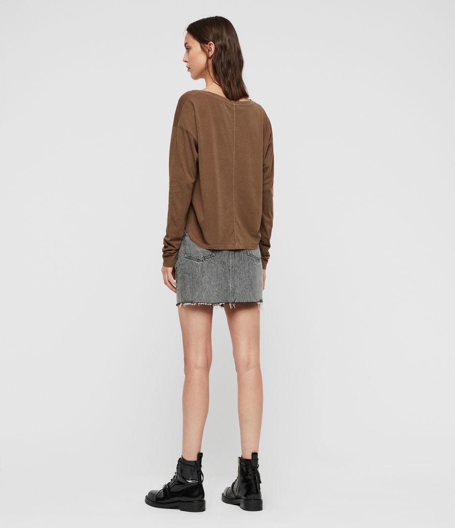 Womens Brea Long Sleeve T-Shirt (khaki_green) - Image 5