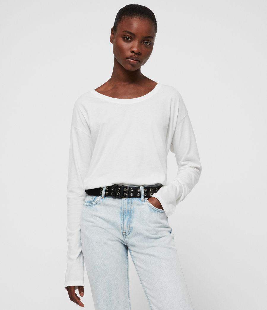 Womens Brea Long Sleeve T-Shirt (chalk_white) - Image 1