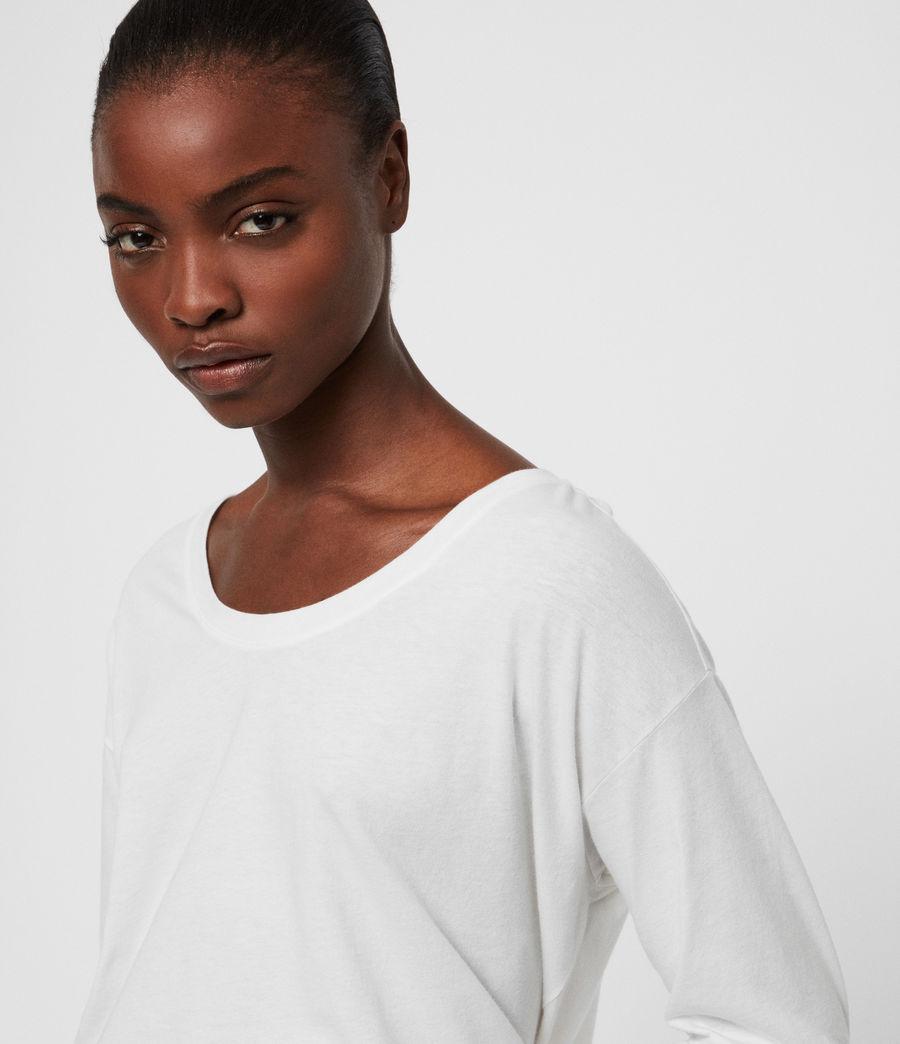 Womens Brea Long Sleeve T-Shirt (chalk_white) - Image 2