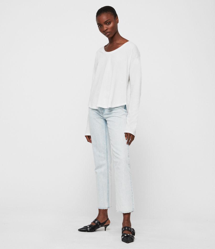 Womens Brea Long Sleeve T-Shirt (chalk_white) - Image 3