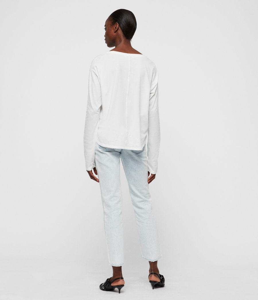Womens Brea Long Sleeve T-Shirt (chalk_white) - Image 4