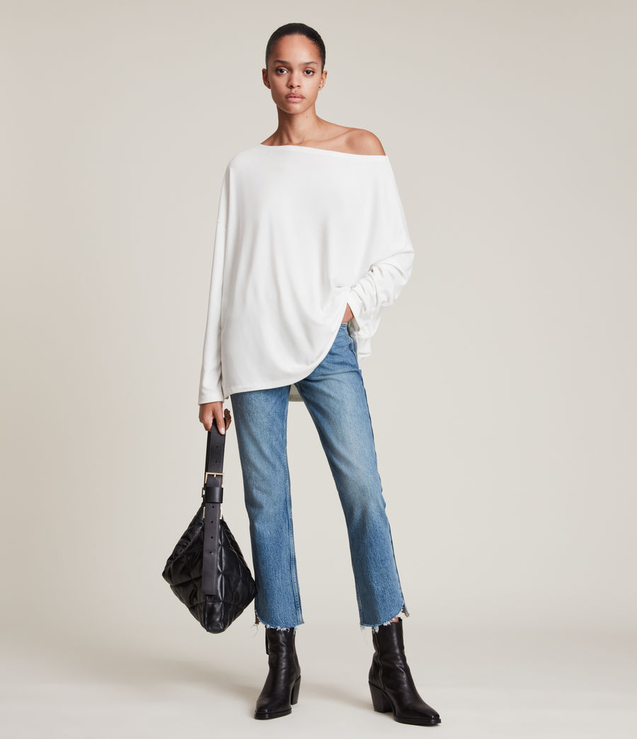 Womens Rita Top (chalk_white) - Image 2