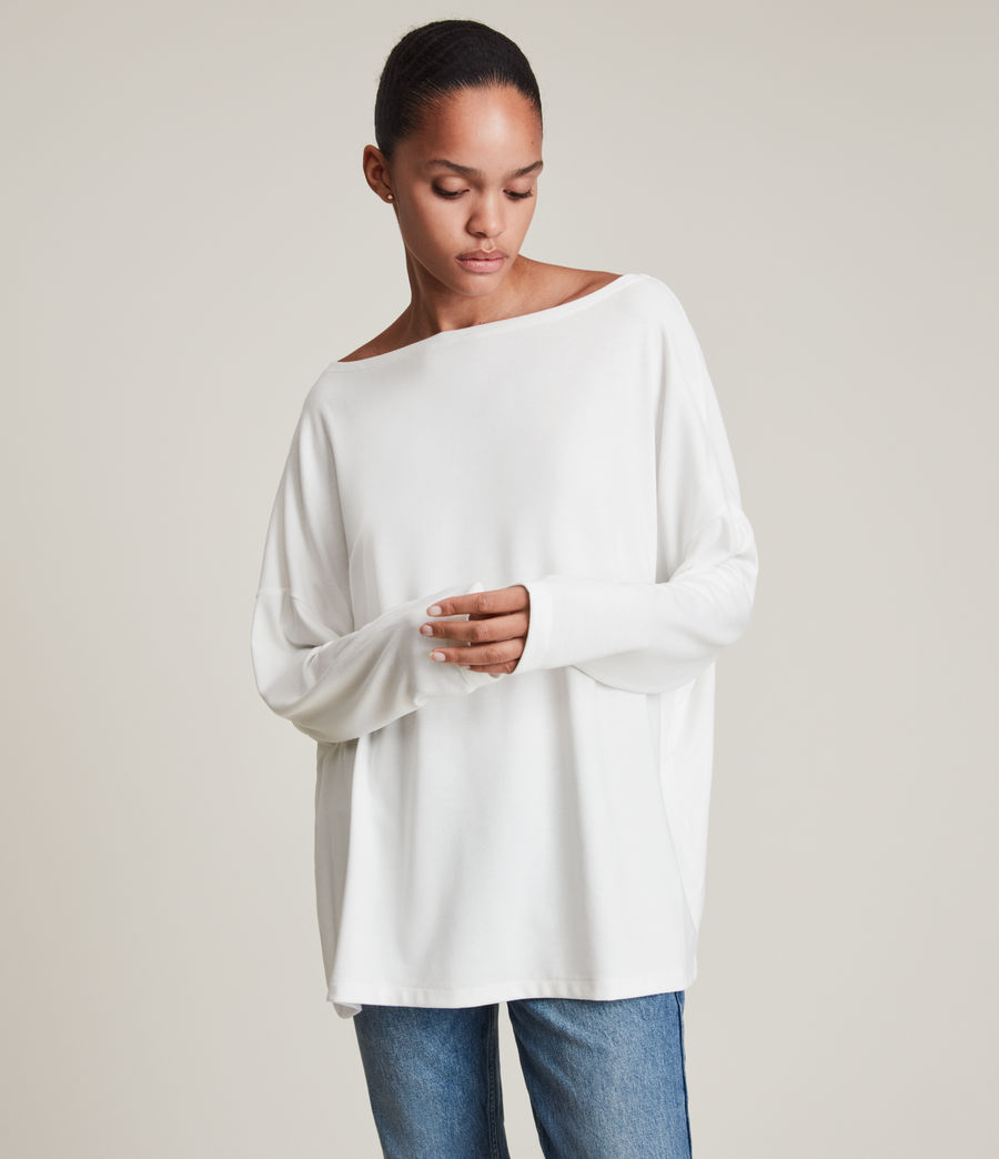 Womens Rita Top (chalk_white) - Image 3