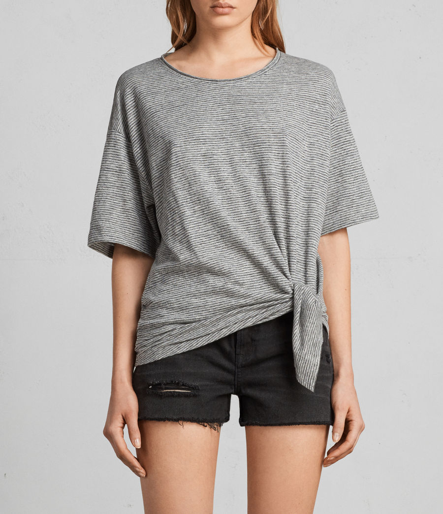 Donne T-shirt Meli Stripe (charcoal_grey) - Image 1