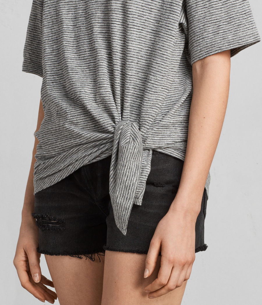 Donne T-shirt Meli Stripe (charcoal_grey) - Image 2