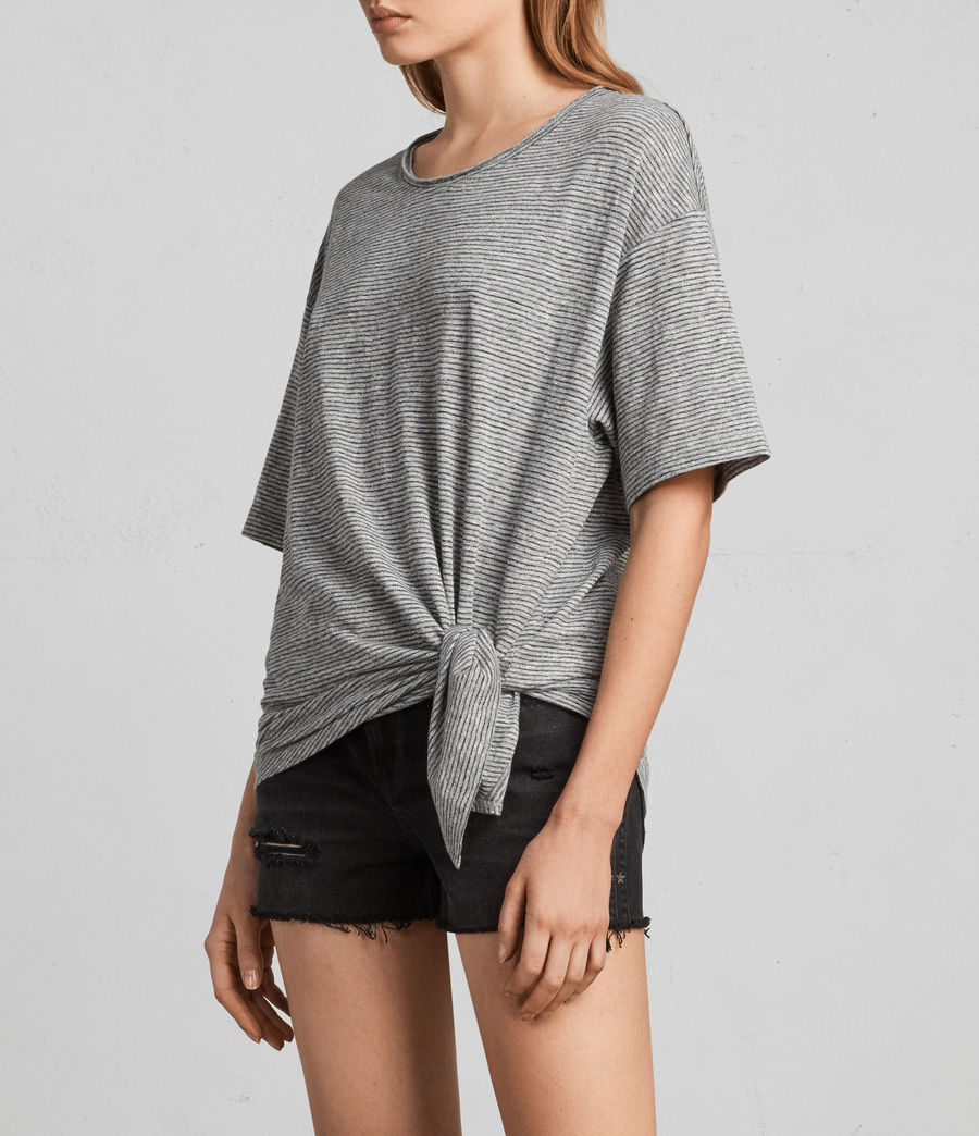 Donne T-shirt Meli Stripe (charcoal_grey) - Image 3
