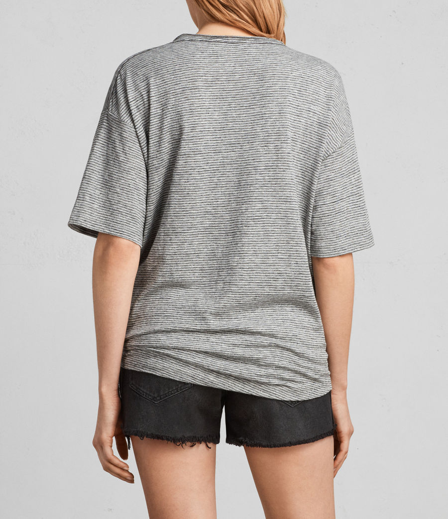 Donne T-shirt Meli Stripe (charcoal_grey) - Image 4