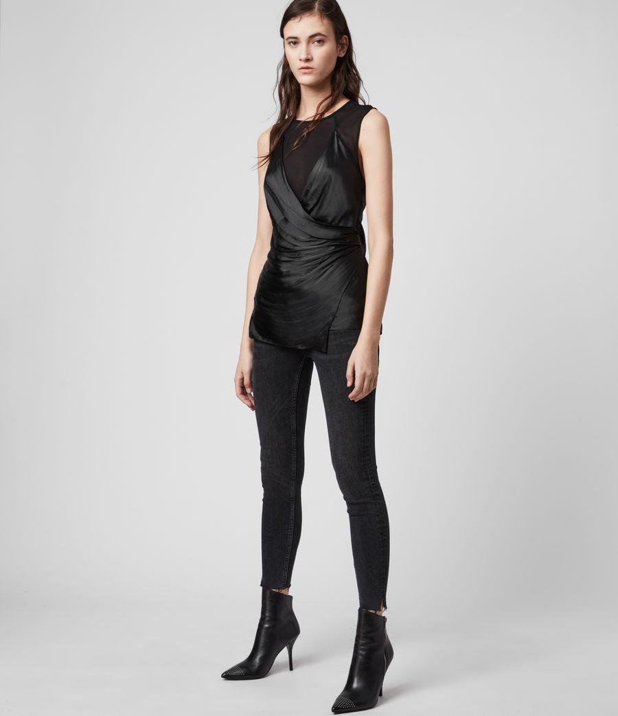 Womens Carlotta Top (black) - Image 3