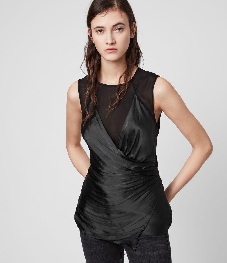 Womens Carlotta Top (black) - Image 4