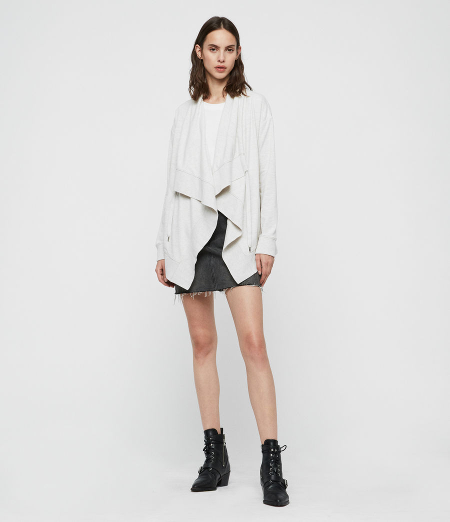 Mujer Drape Brushed Jacket (oyster_white) - Image 1