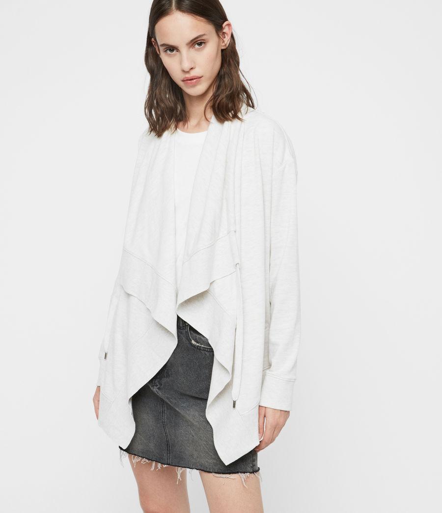 Mujer Drape Brushed Jacket (oyster_white) - Image 2