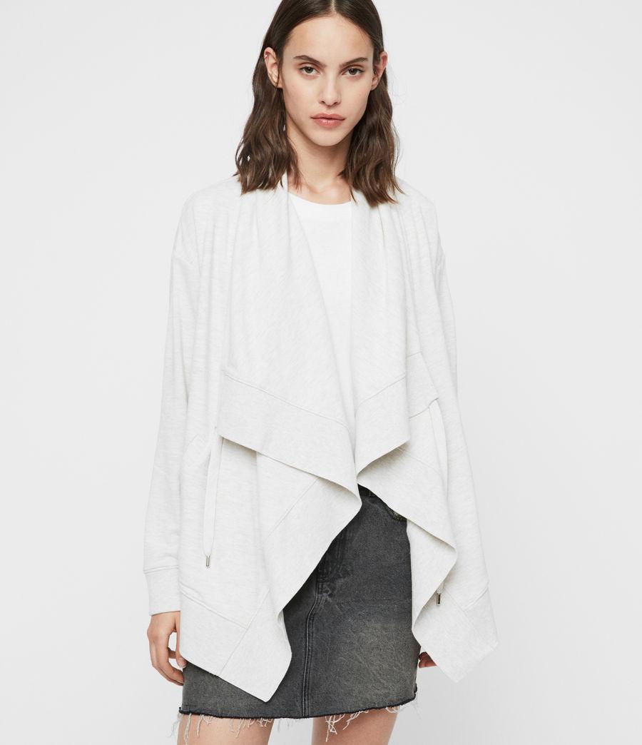 Womens Drape Brushed Jacket (oyster_white) - Image 3