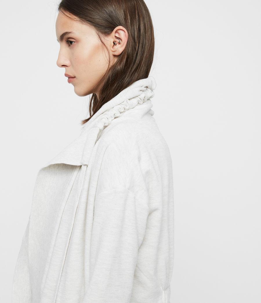 Mujer Drape Brushed Jacket (oyster_white) - Image 4