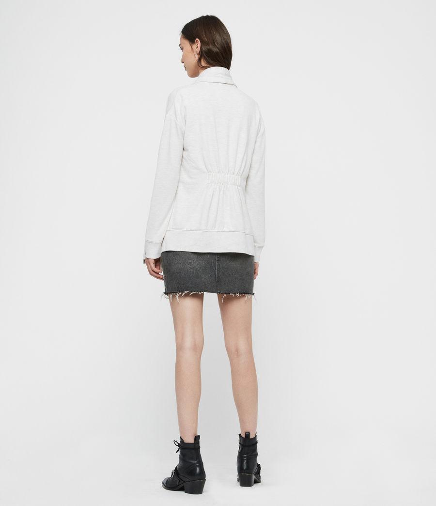 Womens Drape Brushed Jacket (oyster_white) - Image 5