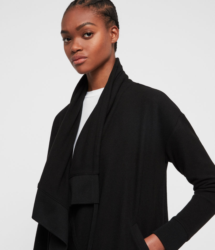 Womens Drape Brushed Jacket (black) - Image 2