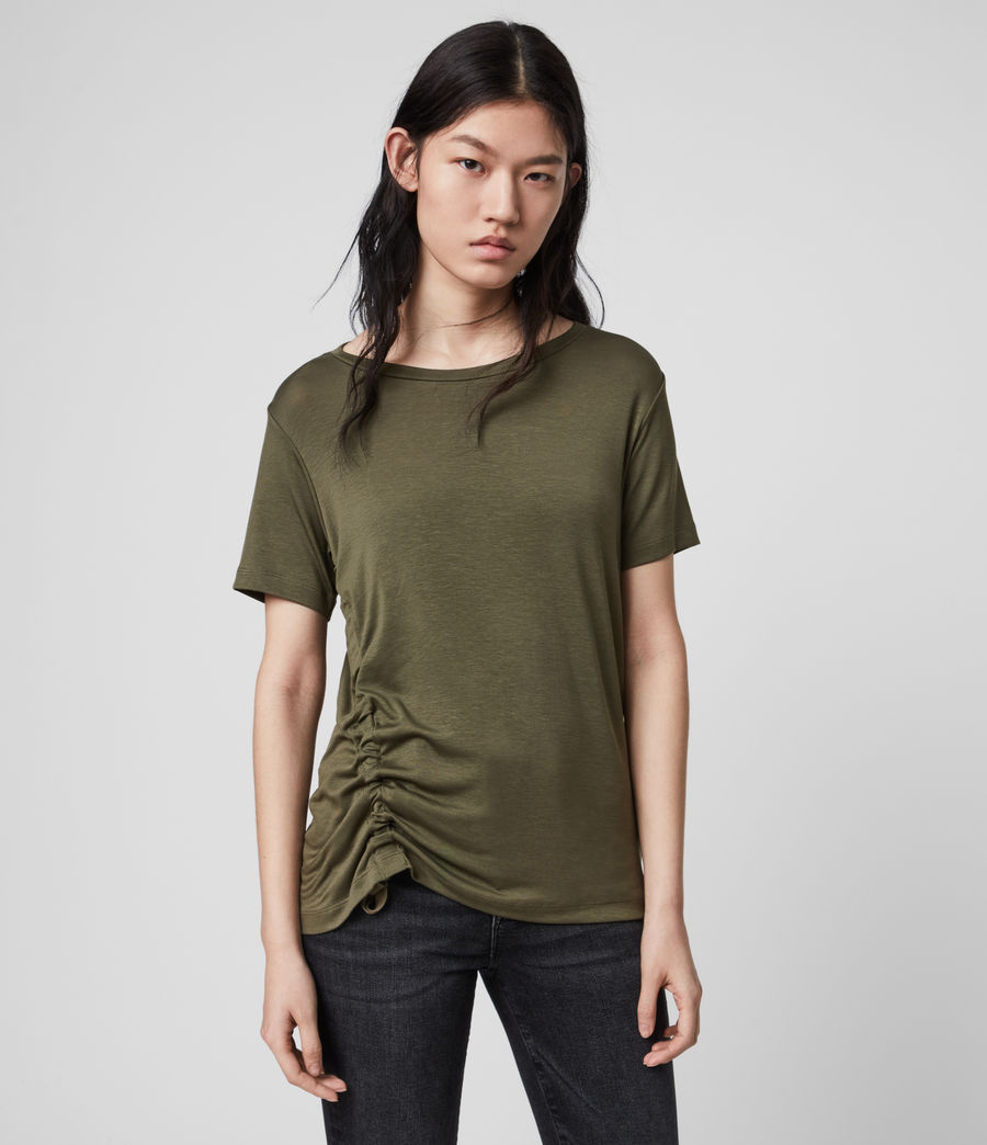 Womens Ryder Lux Short Sleeve T-Shirt (khaki_green) - Image 1