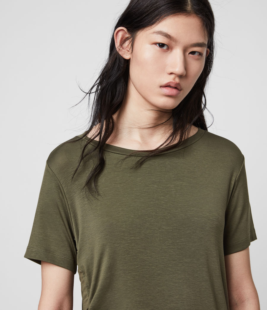 Womens Ryder Lux Short Sleeve T-Shirt (khaki_green) - Image 1