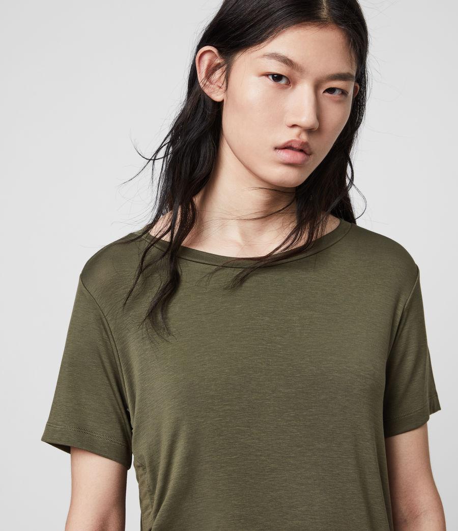 Womens Ryder Lux Short Sleeve T-Shirt (khaki_green) - Image 2