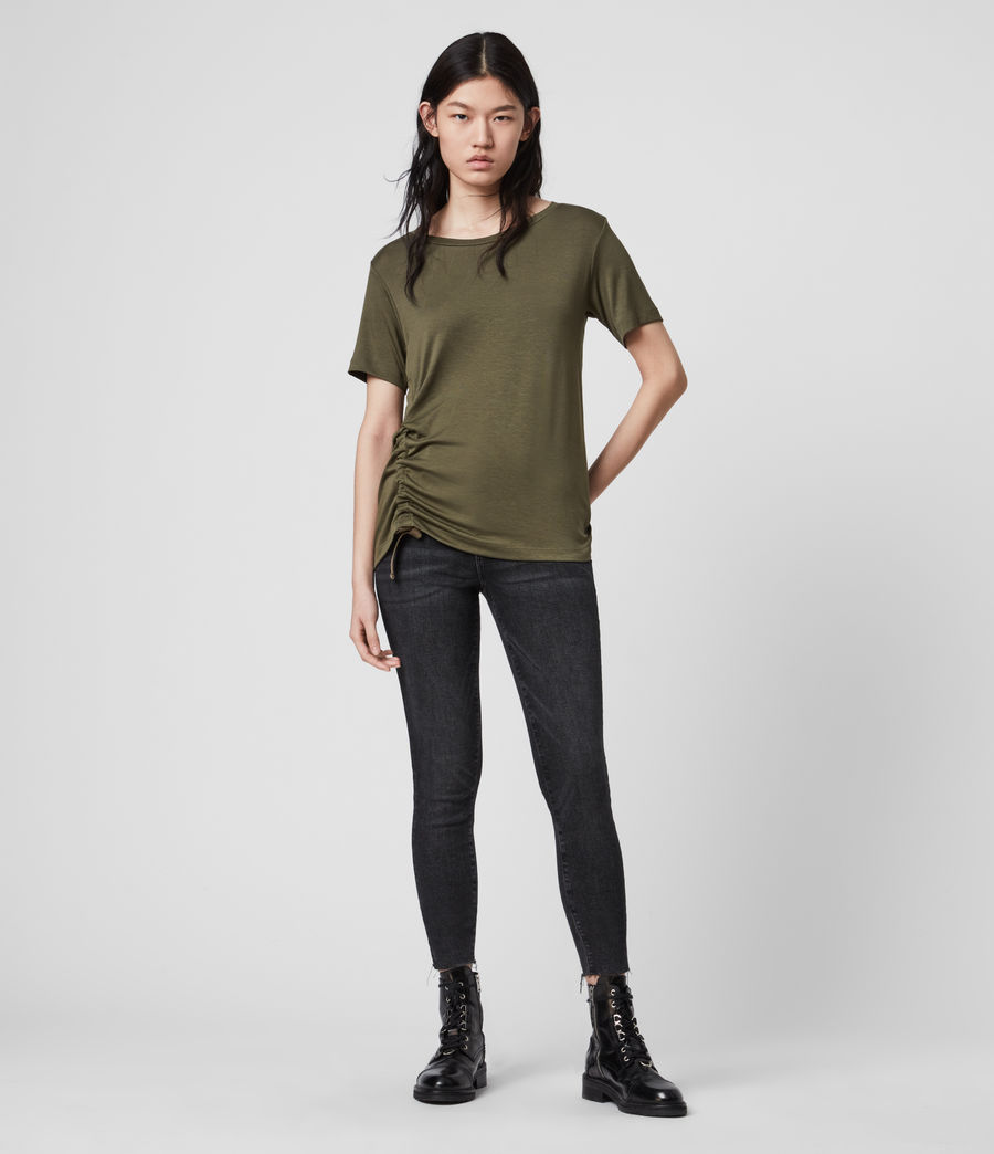 Womens Ryder Lux Short Sleeve T-Shirt (khaki_green) - Image 2