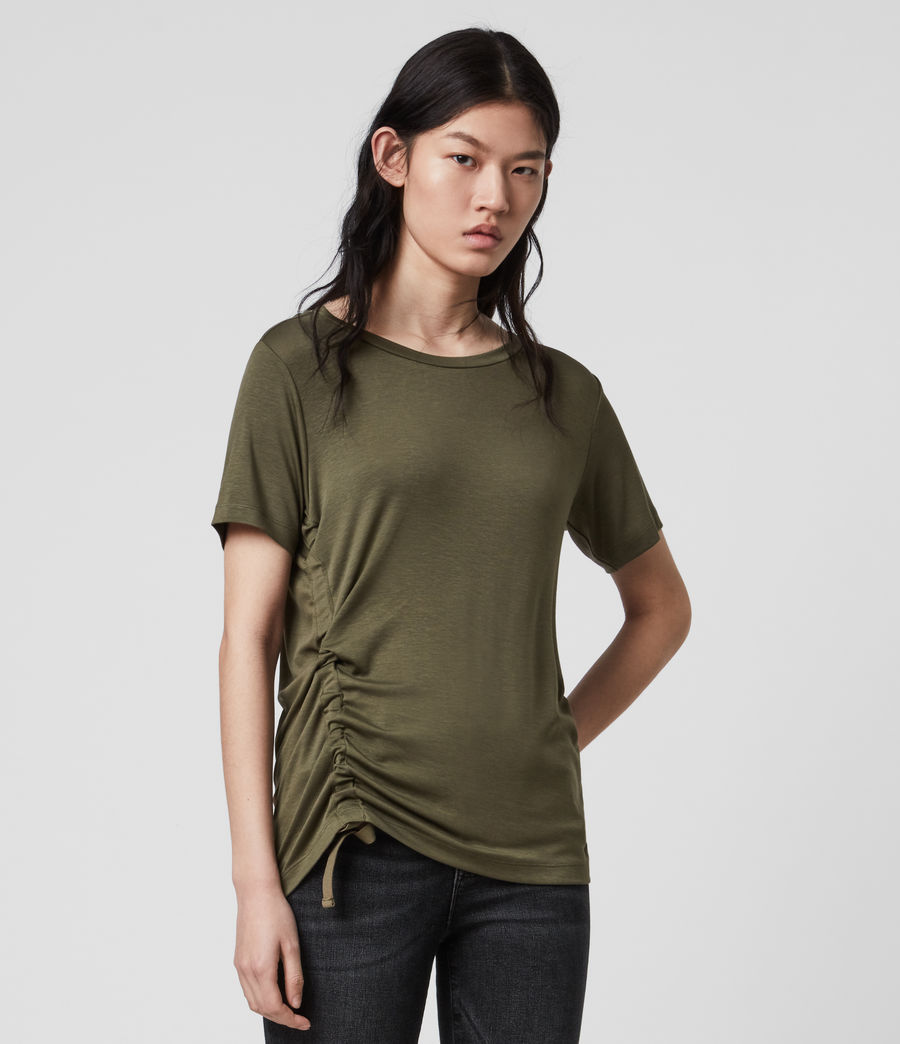 Womens Ryder Lux Short Sleeve T-Shirt (khaki_green) - Image 4