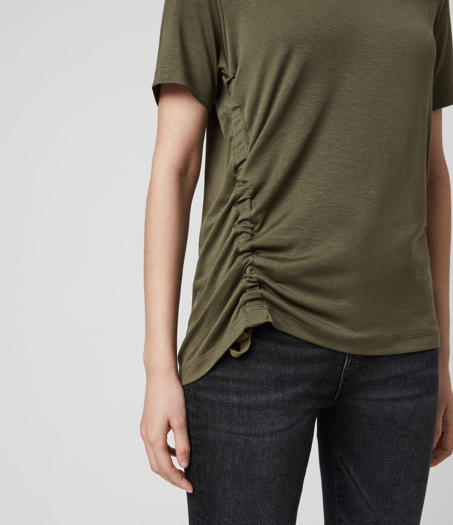 Womens Ryder Lux Short Sleeve T-Shirt (khaki_green) - Image 4