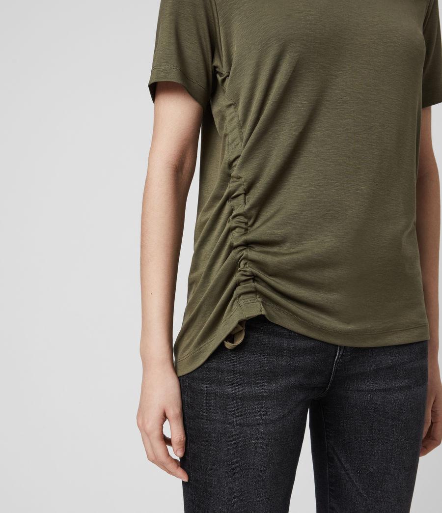Womens Ryder Lux Short Sleeve T-Shirt (khaki_green) - Image 5