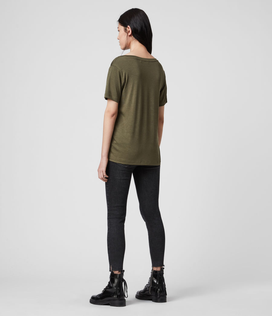 Womens Ryder Lux Short Sleeve T-Shirt (khaki_green) - Image 5