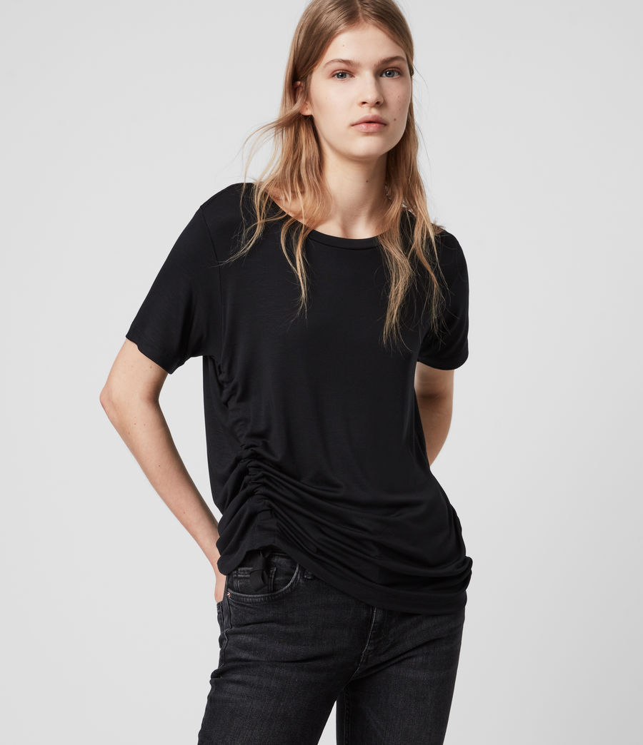 Womens Ryder Lux T-Shirt (black) - Image 1