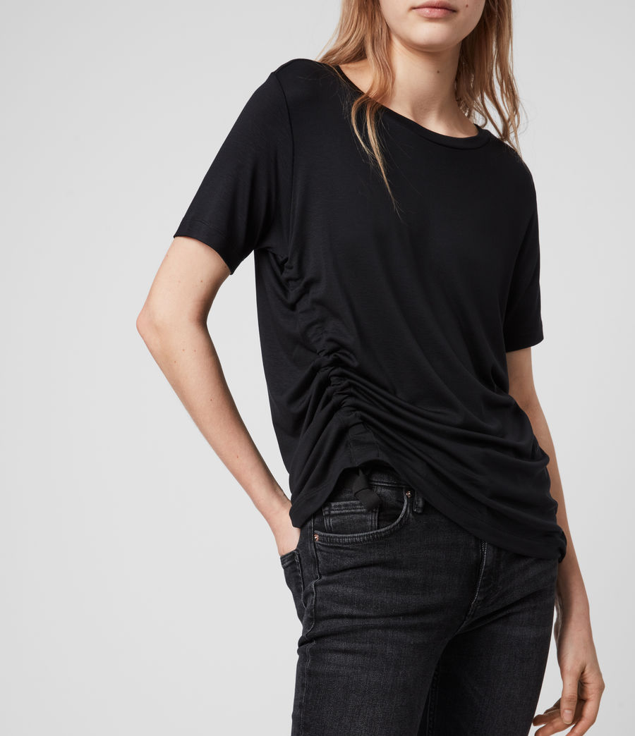 Women's Ryder Lux Short Sleeve T-Shirt (black) - Image 5