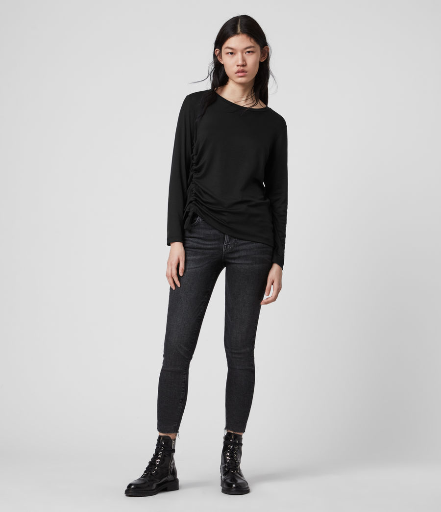 Mujer Ryder Lux Long Sleeve T-Shirt (black) - Image 3