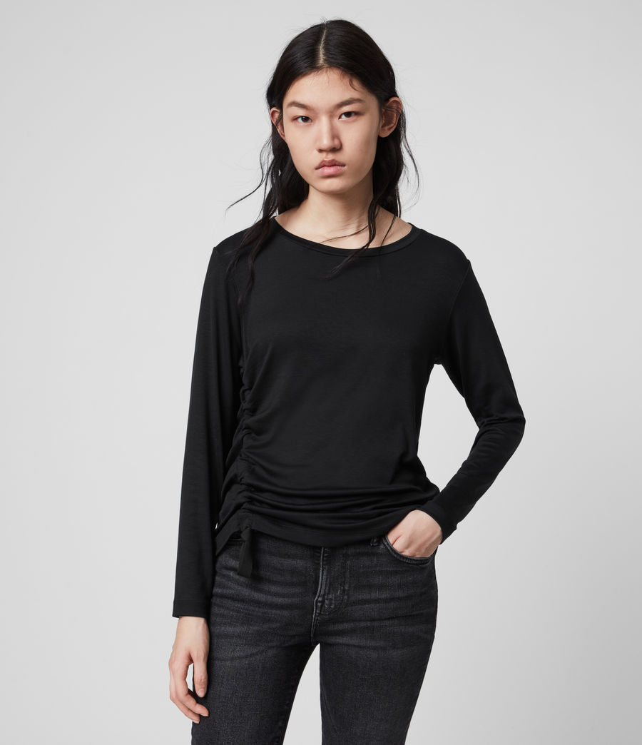Mujer Ryder Lux Long Sleeve T-Shirt (black) - Image 4