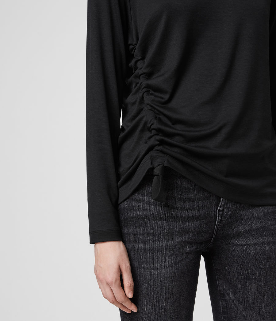 Mujer Ryder Lux Long Sleeve T-Shirt (black) - Image 5