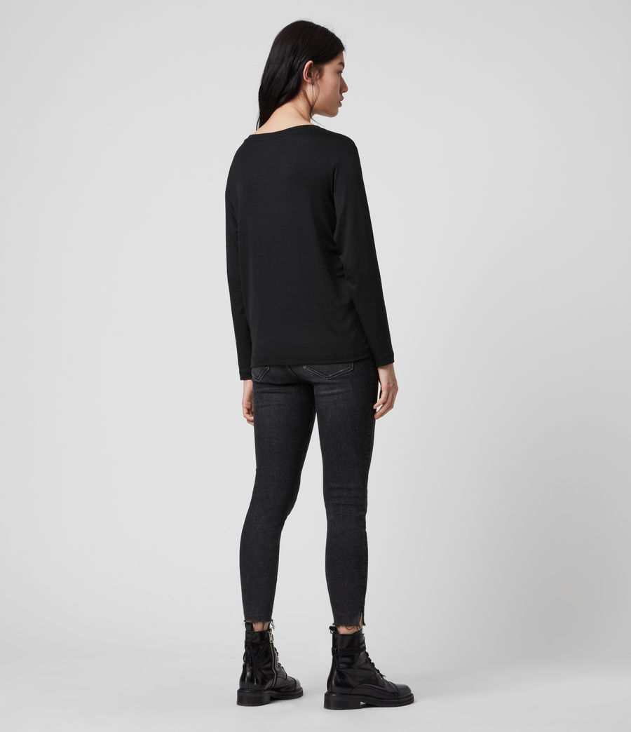Mujer Ryder Lux Long Sleeve T-Shirt (black) - Image 6