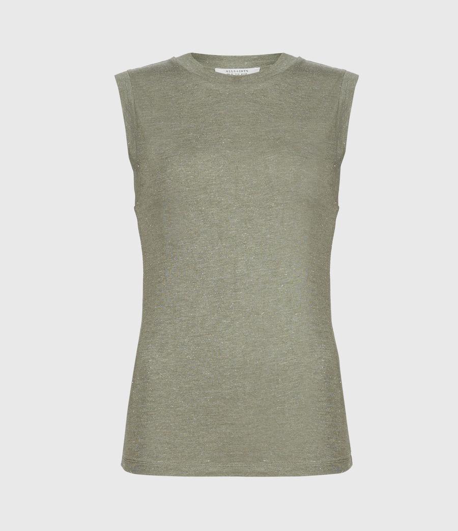 Femmes Imogen Shimmer Tank (khaki_green) - Image 2